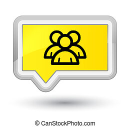 Group icon prime yellow banner button