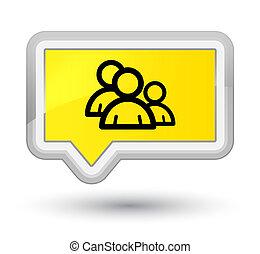 Group icon prime yellow banner button