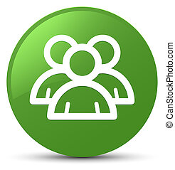 Group icon soft green round button
