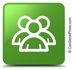 Group icon soft green square button