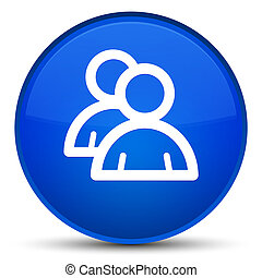 Group icon special blue round button