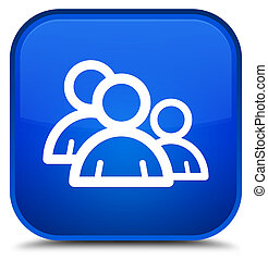Group icon special blue square button