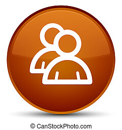 Group icon special brown round button