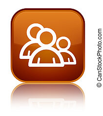 Group icon special brown square button