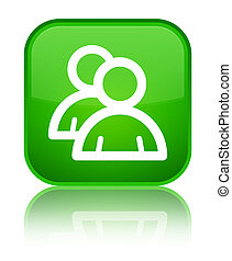 Group icon special green square button