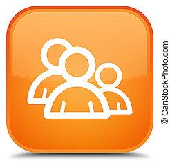 Group icon special orange square button