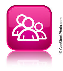 Group icon special pink square button