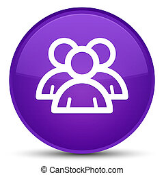 Group icon special purple round button