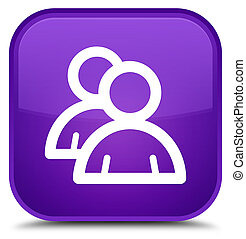 Group icon special purple square button
