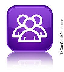 Group icon special purple square button