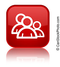 Group icon special red square button