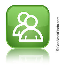 Group icon special soft green square button