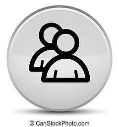 Group icon special white round button