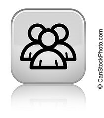 Group icon special white square button