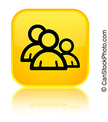 Group icon special yellow square button