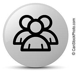 Group icon white round button