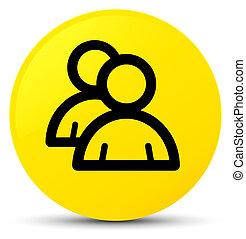 Group icon yellow round button