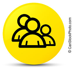 Group icon yellow round button