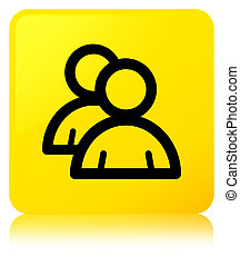 Group icon yellow square button