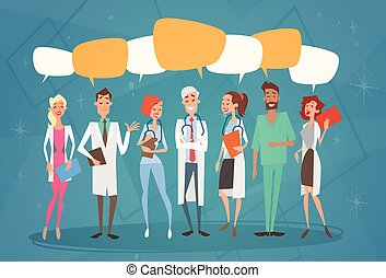 Group Medial Doctors Chat Bubble Social Network...