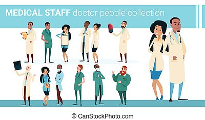 Group Medial Doctors Collection Hospital Team Clinic Banner...