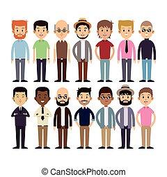 group men multi-cultural fashion