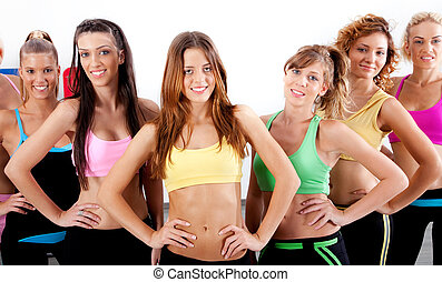 active ladies - group of active ladies standing in front of ...