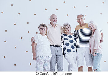 Group of active seniors
