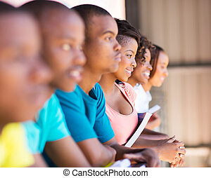 group of african college students