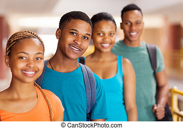 group of african university students