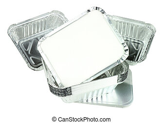 Group Of Aluminium Foil Take Away Food Containers