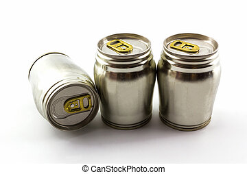 Group of aluminium tin can. - Group of aluminium tin can on...