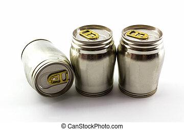 Group of aluminium tin can. - Group of aluminium tin can on...