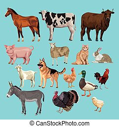group of animals farm characters