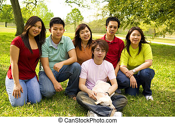Group Of Asian Teens