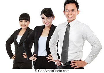 Group of asian young businessperson