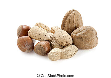 group of assorted nuts