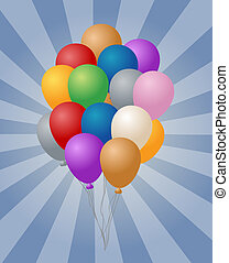 Group of balloons - Group of many festive colored balloons...