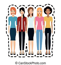 group of beautiful women icon image