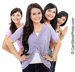 Group of beautiful women smiling