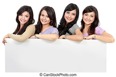 Group of beautiful women smiling