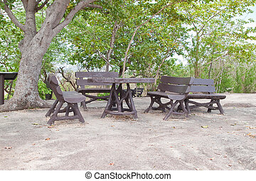 Group of Bench in  the Park