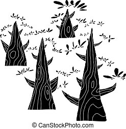 Group of Black Trees
