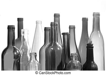 group of bottleneck on white background