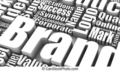 Brand Marketing - Group of Brand Marketing related 3D words....