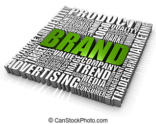 Brand - Group of Brand related words. Part of a series of ...