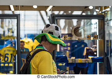 Group of Brazilian soccer fans