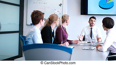 group of business man on meeting