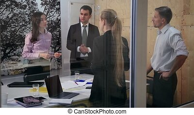 Group of business people at meeting in office