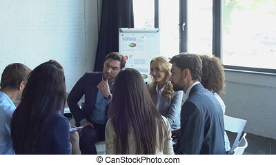 Group Of Business People Brainstorming Meeting Successful...